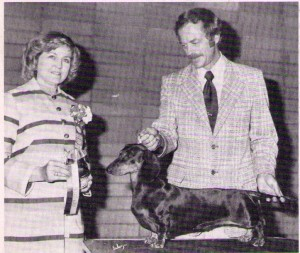 CH Barbadox Giko, Judge Mrs. eugene Urban and handler Gene French