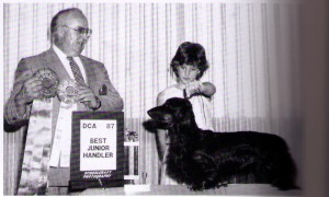 Judge Ray Patenaude and Handler Catherine Carson