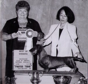 Judge Emma Jean Stephenson and Handler Marilyn Goodermont