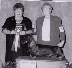 Judge Emma Jean Stephenson and Handler Judy Anderson