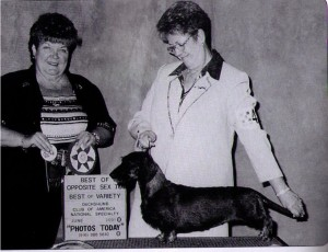 Judge Emma Jean Stephenson and Handler Cookie Roush