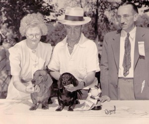 Miriam Van Court (with Basil), Jerry Wenden and Fred Heying at a DCC Match