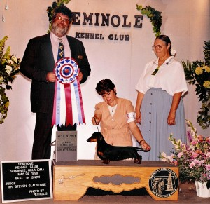 Best In Show Seminole KC, May 24, 1998 – Judge Steven Gladstone, Handler Lori Wilson