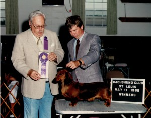 CH Boondox Promise, owner Dan Harrison and Judge John Cook at the St Louis Specialty